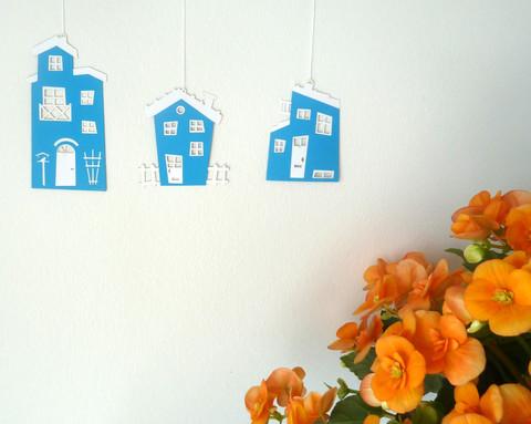 Sjove huse Blå
