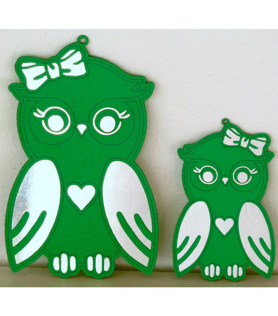 Ugler Grøn/Sølv