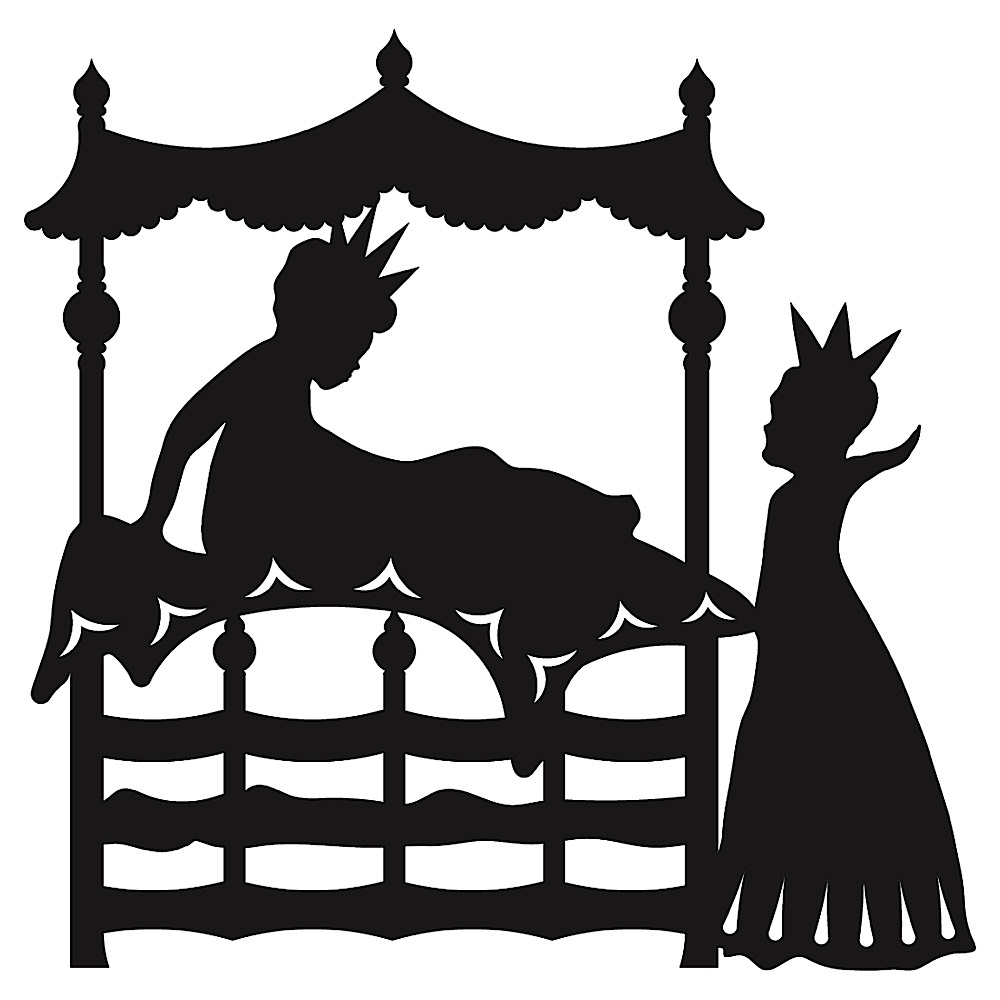 Prinsessen på Ærten silhuet