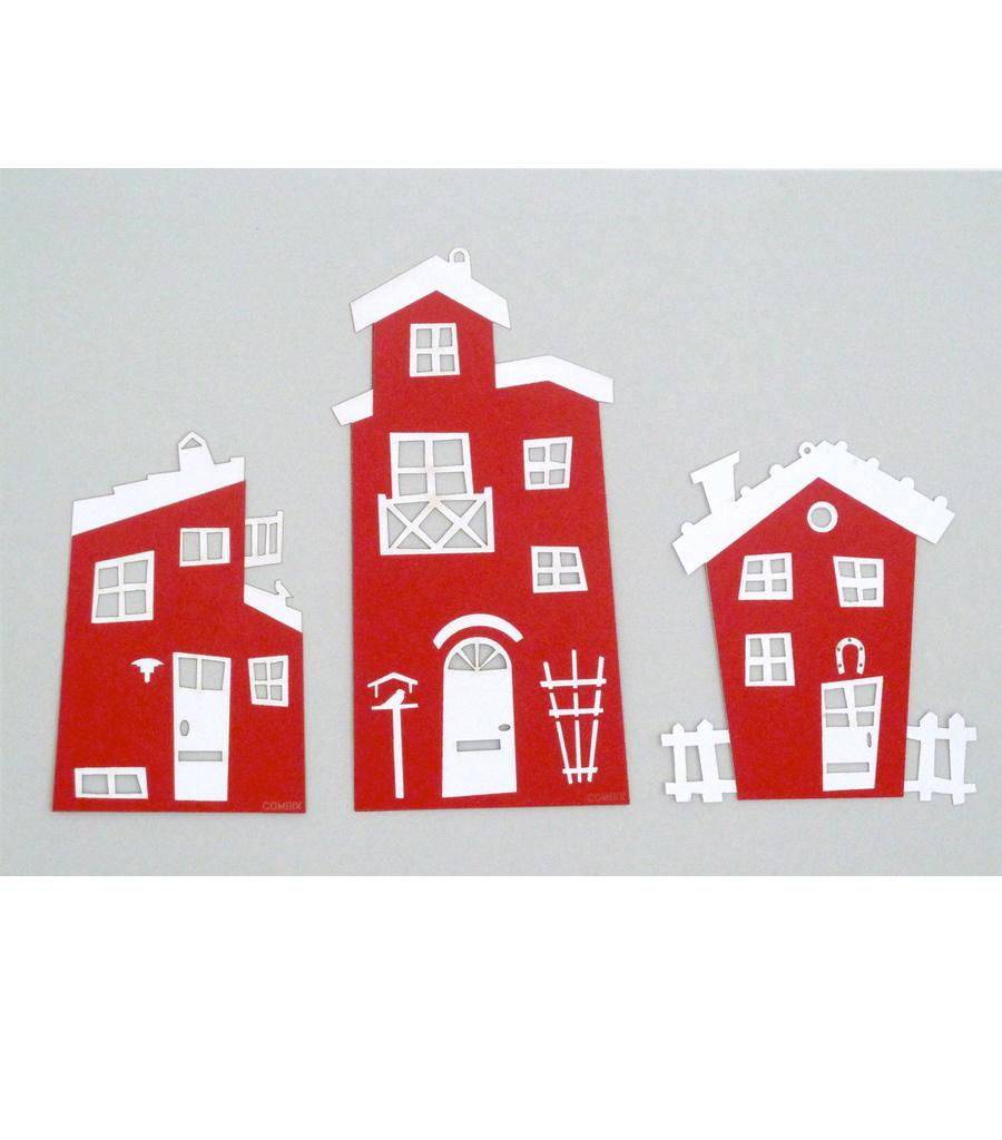 Sjove huse Rød